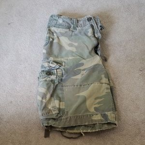 Abercrombie and Fitch Camo Cargo Shorts